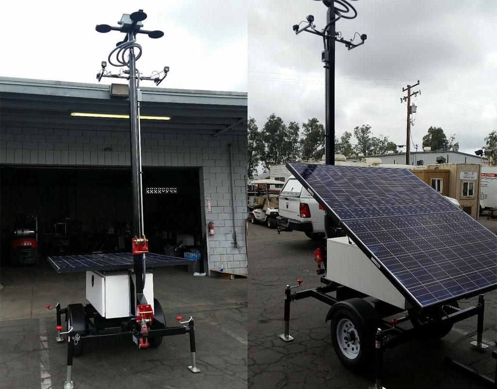 Mobile Wireless Solar Trailer