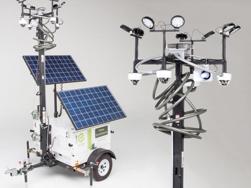 Hybrid Solar Powered Mobile Surveillance Unit