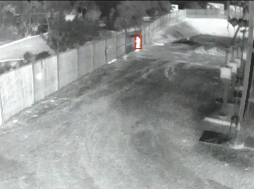Construction Site Thermal Camera Detecting a Person