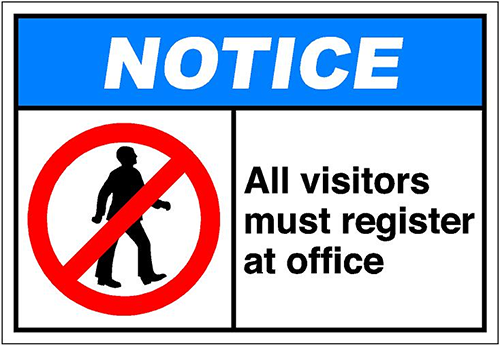 visitor policies and procedures