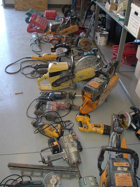 Commonly Stolen Construction Tools