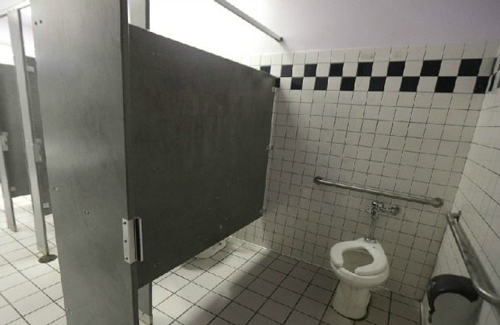Do Not install cameras in restrooms