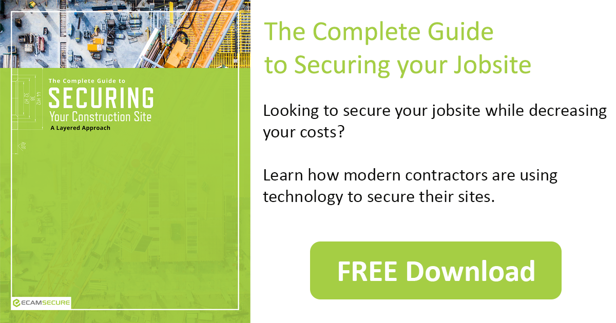 "Download our eBook ""The Complete Guide to Securing your Jobsite"""