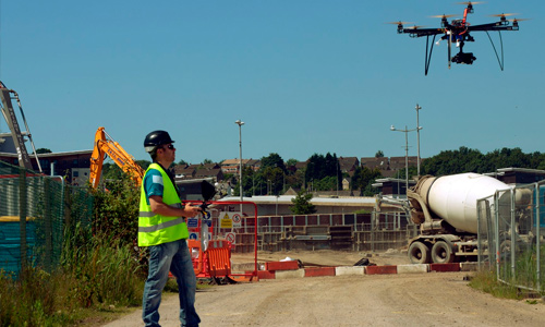 Construction Site Surveillance Drones