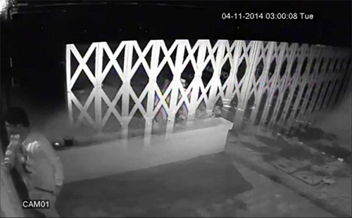 Thermal Security Camera View
