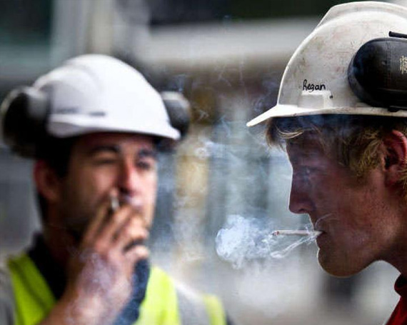 Smoking on a Construction Site Fire Hazard.