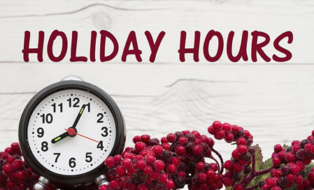 Holiday security | update opening hours