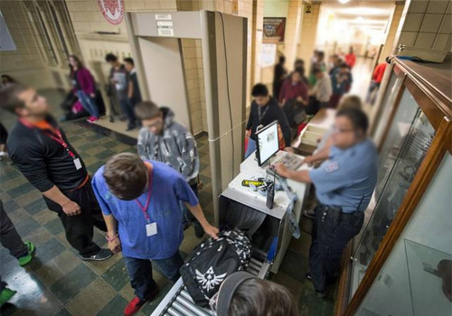school campus metal detectors