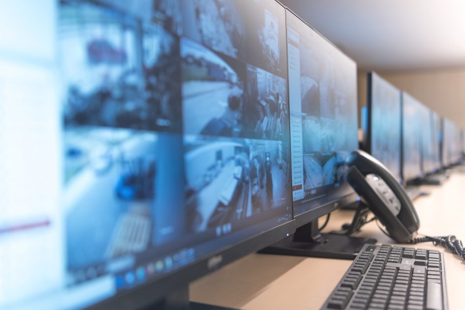 Computer screens displaying security screens